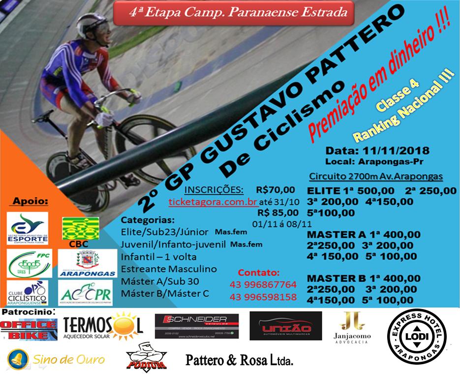 2ª GP GUSTAVO PATTERO DE CICLISMO
