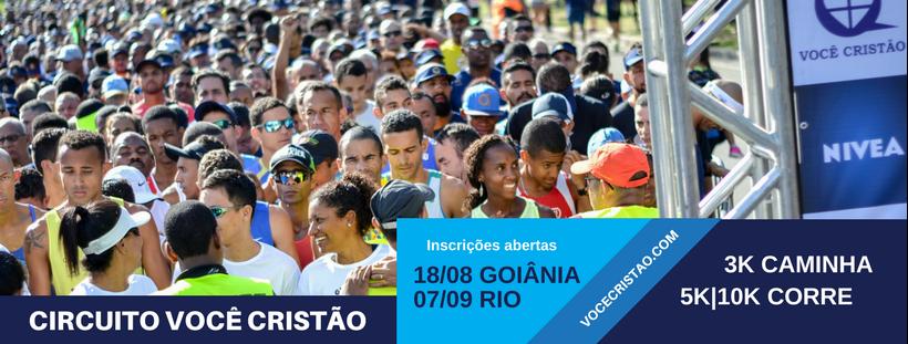 1ª CORRIDA E CAMINHADA VOCÊ CRISTÃO 2018 - GOIÂNIA GO  - Imagem de topo