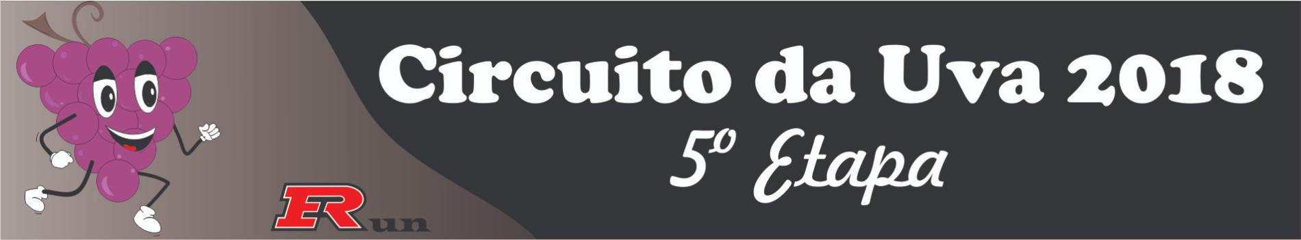 CIRCUITO DA UVA 2018 5ª ETAPA  - Imagem de topo