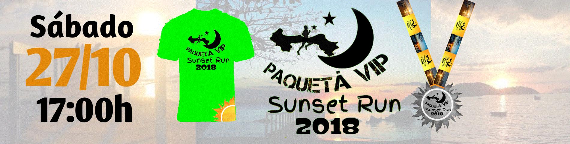 PAQUETA VIP SUNSET RUN 2018 - Imagem de topo