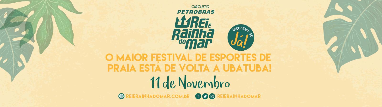 Circuito Petrobras Rei e Rainha do Mar 2018 - Etapa Ubatuba - Imagem de topo
