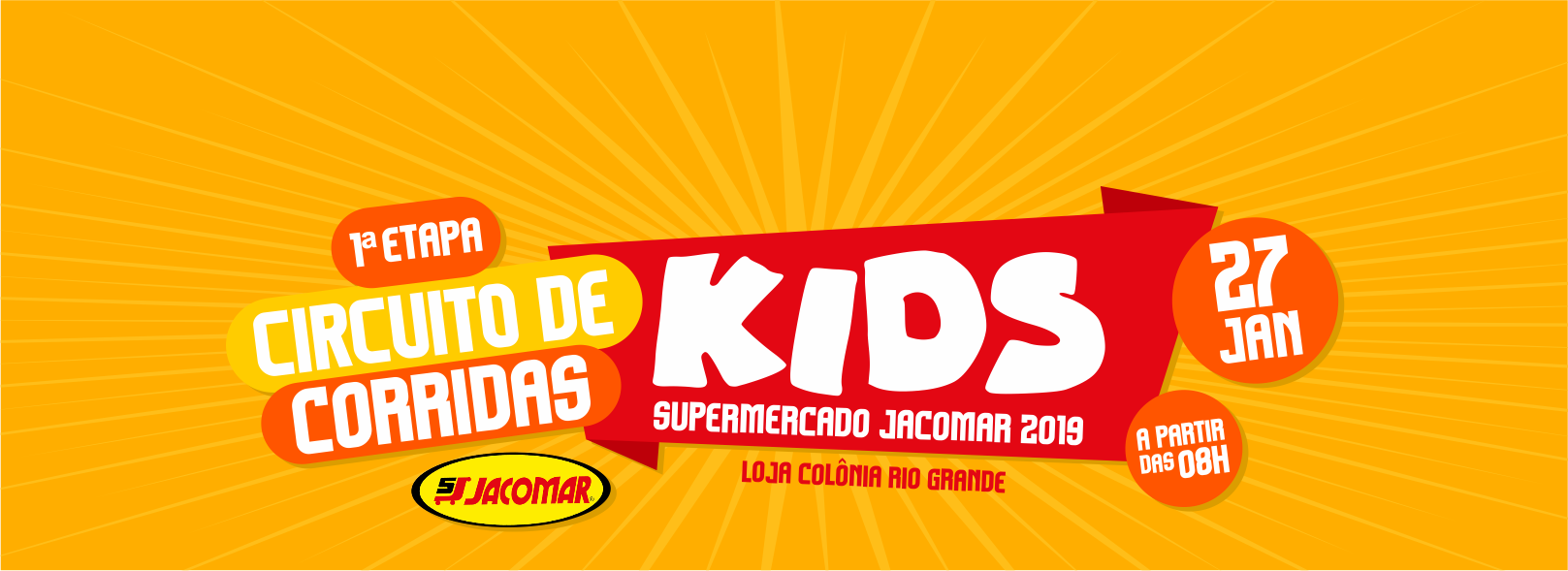1ª ETAPA do CIRCUITO de CORRIDA KIDS SUPERMERCADO JACOMAR
