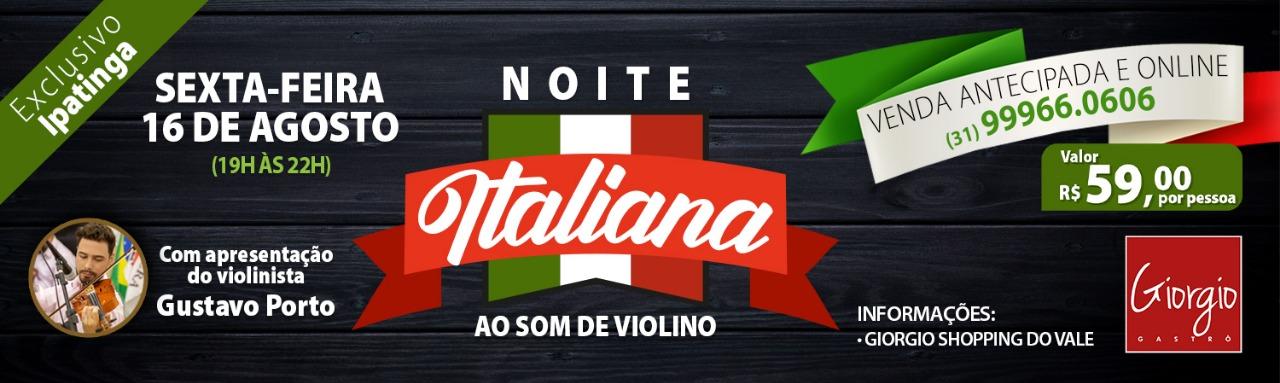 NOITE ITALIANA AO SOM DE VIOLINO