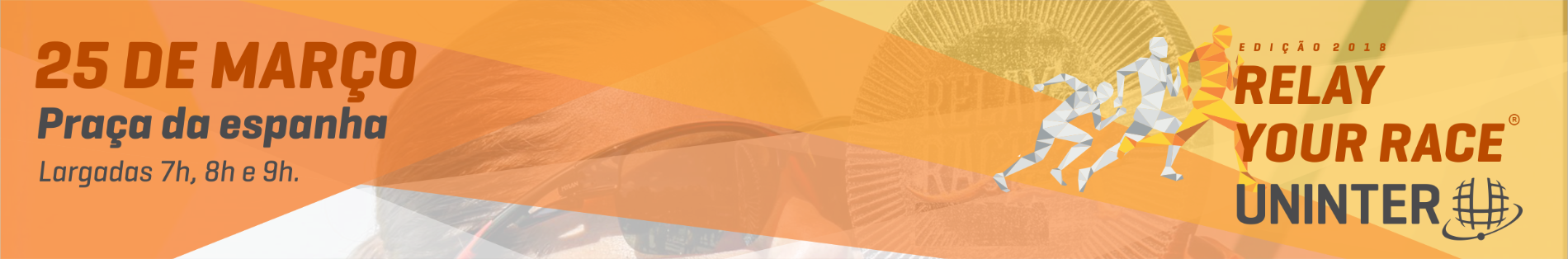 RELAY YOUR RACE - Corrida de REVEZAMENTO INDIVIDUAL - Imagem de topo