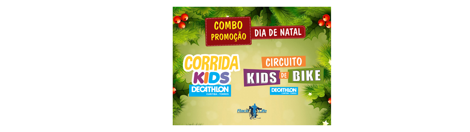 COMBO - CIRCUITO KIDS DE BIKE DECATHLON TORRES E CORRIDA KIDS DECATHLON