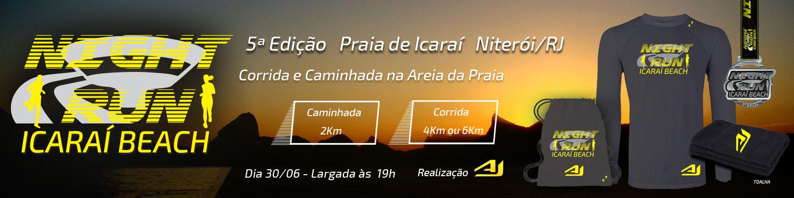 NIGHT RUN ICARAÍ BEACH - 5ª EDIÇÃO - NITERÓI/RJ - Imagem de topo