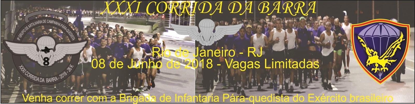 31ª CORRIDA DA BARRA - CORRA COM OS MILITARES DA BRIGADA DE INFANTARIA PÁRA-QUEDISTA - Imagem de topo