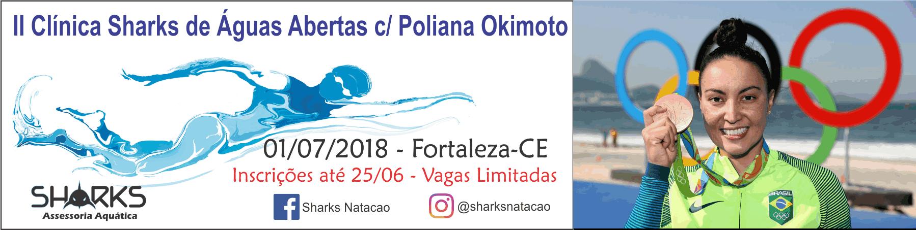 II Clinica de Águas Abertas Sharks com Poliana Okimoto - Imagem de topo