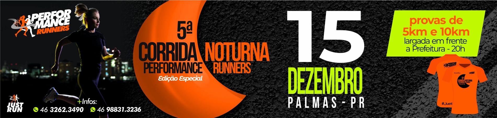 V Corrida noturna performance runners