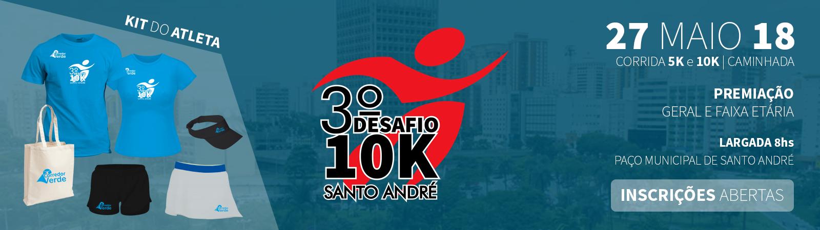 3° Desafio 10k - Santo André - Imagem de topo