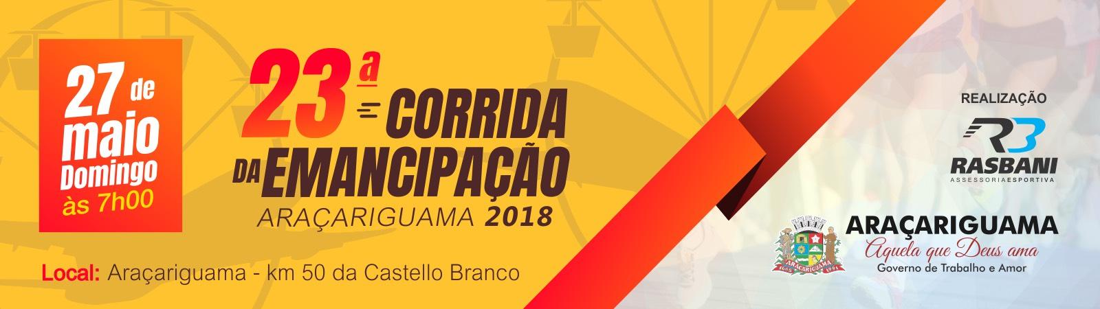 23ª Corrida da Emancipação da Araçariguama - 2018