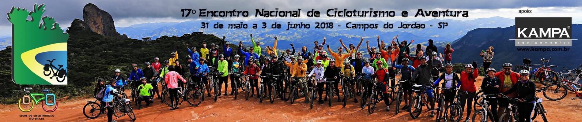 17º ENCONTRO NACIONAL DE CICLOTURISMO E AVENTURA - 2018 - Imagem de topo