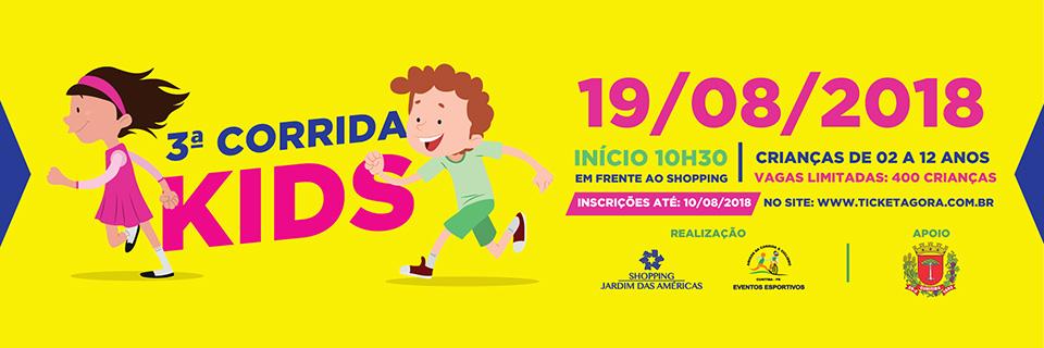 3ª CORRIDA KIDS - SHOPPING JARDIM DAS AMÉRICAS - Imagem de topo