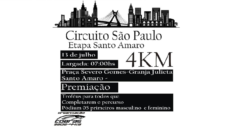 CIRCUITO SÃO PAULO - SANTO AMARO