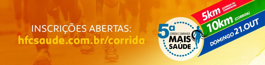 5ª CORRIDA E CAMINHADA MAIS SAÚDE - Imagem de topo