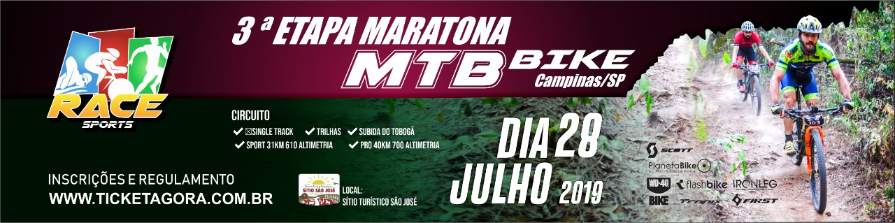 3ª ETAPA - MARATONA DE MOUNTAIN BIKE RACE SPORTS - CAMPINAS