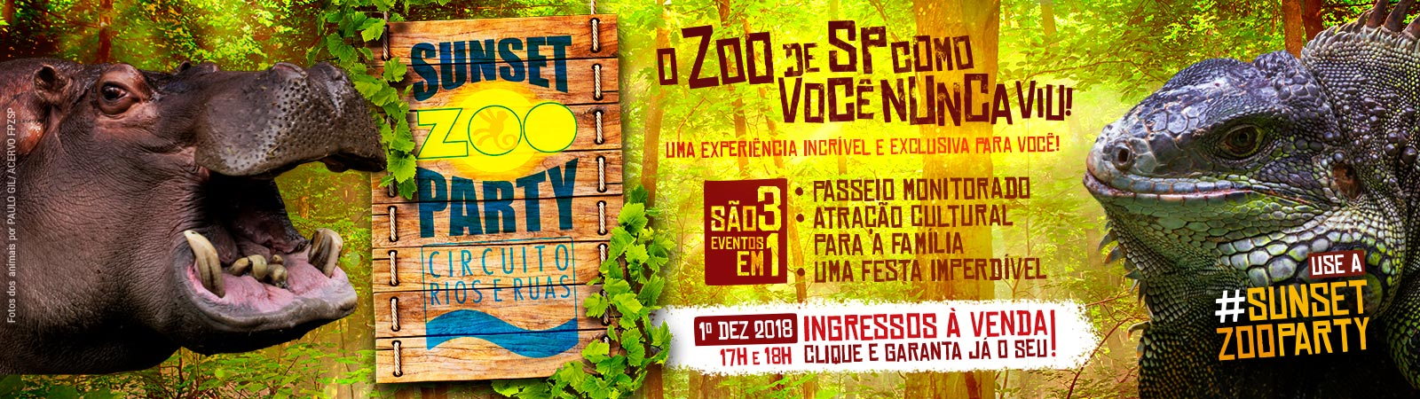 SUNSET ZOO PARTY - CIRCUITO RIOS E RUAS (AS NASCENTES DO RIO IPIRANGA)