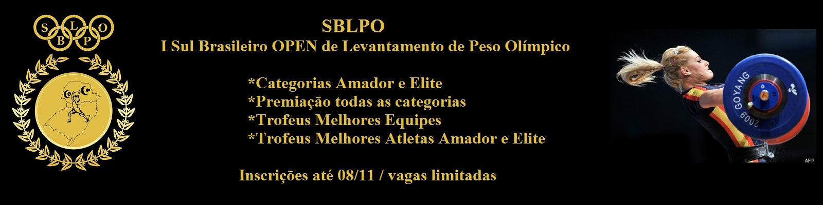 I SUL BRASILEIRO OPEN DE LEVANTAMENTO  DE PESO OLÍMPICO - SBLPO - Imagem de topo