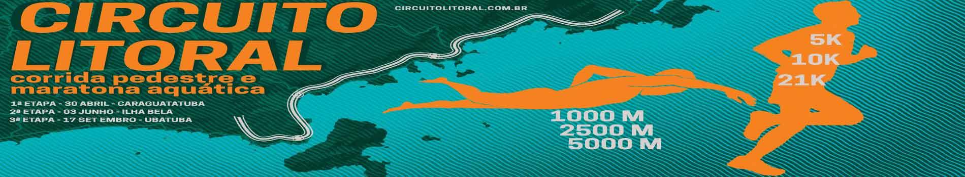 CIRCUITO LITORAL - MARATONAS AQUÁTICAS E CORRIDA PEDESTRE - Imagem de topo