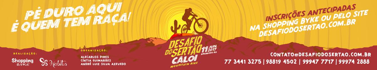 DESAFIO SERTÃO CALOI - 2017 - Imagem de topo