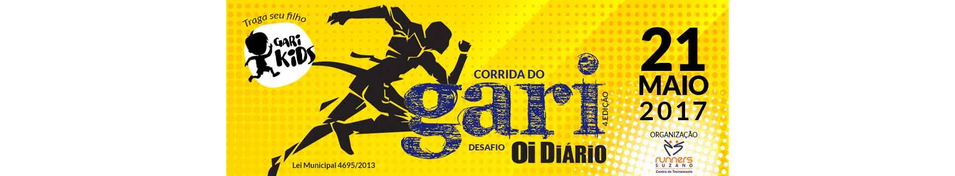 4º EDIÇÃO CORRIDA DO GARI - DESAFIO OI DIÁRIO - Imagem de topo