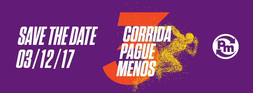 3ª CORRIDA E CAMINHADA PAGUE MENOS - 2017 - Imagem de topo