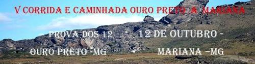 V CORRIDA E CAMINHADA OURO PRETO A MARIANA - Imagem de topo