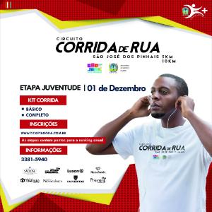 CIRCUITO DE CORRIDAS DE RUA DE SÃO JOSÉ DOS PINHAIS - ETAPA NOTURNA DA JUVENTUDE - Imagem do evento