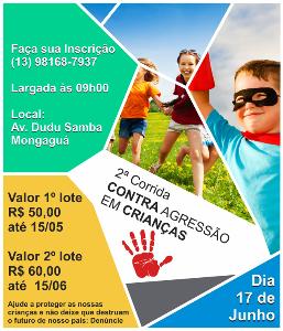 CORRIDA E CAMINHADA - CONTRA AGRESSÃO EM CRIANÇAS - Imagem do evento