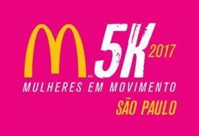 CORRIDA E CAMINHADA FEMININA McDONALD'S 5K 2017 - SÃO PAULO - Imagem do evento