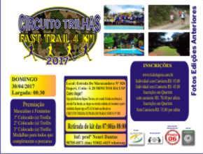 CIRCUITO TRILHAS FAST TRAIL 2017 - Imagem do evento