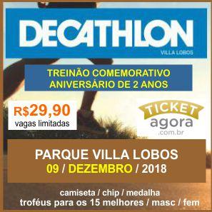 TREINÃO DE ANIVERSÁRIO DECATHLON - VILLA LOBOS 2018 - Imagem do evento