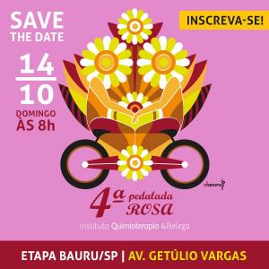 4ª PEDALADA ROSA DO IQeB - ETAPA BAURU - Imagem do evento