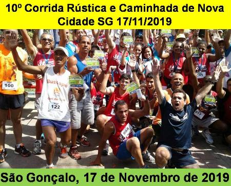 10º CORRIDA RÚSTICA E CAMINHADA DE NOVA CIDADE