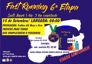 FAST RUNNING SANTO AMARO 6ª ETAPA - Imagem do evento