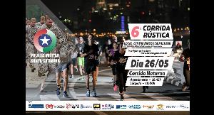6ª CORRIDA E CAMINHADA RÚSTICA 8º BPM JOINVILLE PMSC - Imagem do evento