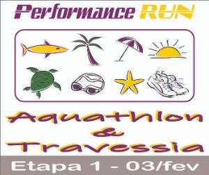 PERFORMANCE RUN AQUATHLON  TRAVESSIA - 03FEV2019 - 1ª ETAPA