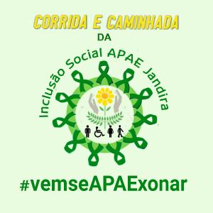 CORRIDA E CAMINHADA DA INCLUSÃO SOCIAL APAE JANDIRA - Imagem do evento