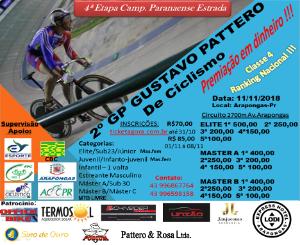 2ª GP GUSTAVO PATTERO DE CICLISMO - Imagem do evento