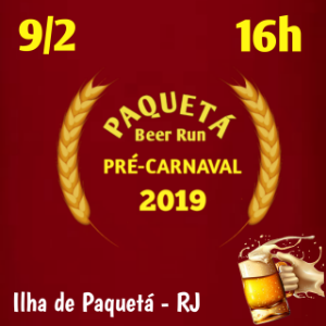 paqueta beer run pré-carnaval 2019
