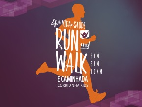4ª Vida e Saúde Run and Walk e Corridinha Kids - Imagem do evento